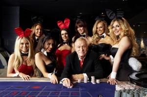 """The Hef"" at Playboy London's Launch"