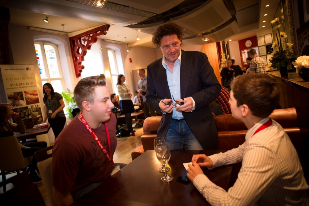 Marco Pierre White talks to students at Clarendon College Nottingham June 2013