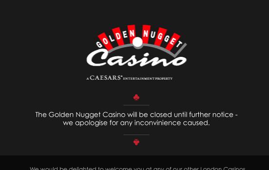 Casino Closes Its Doors Golden Nugget