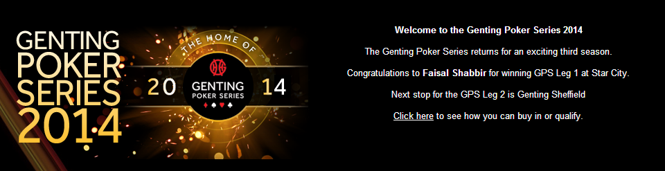 Genting 2014 Poker Tour