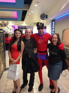 Visitors to Xscape MK recieved free drinks vouchers thanks to Super Casino Man