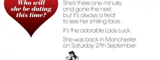 We knew she would return to Manchester soon!