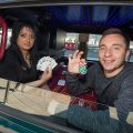 World's smallest casino set up in Birmingham taxi cab