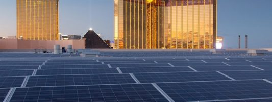 World's largest solar roof is located on a casino in Las Vegas, Nevada