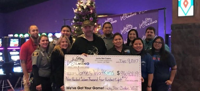 Oklahoma man wins more than $900,000 on his birthday at Lucky Star Casino in Clinton