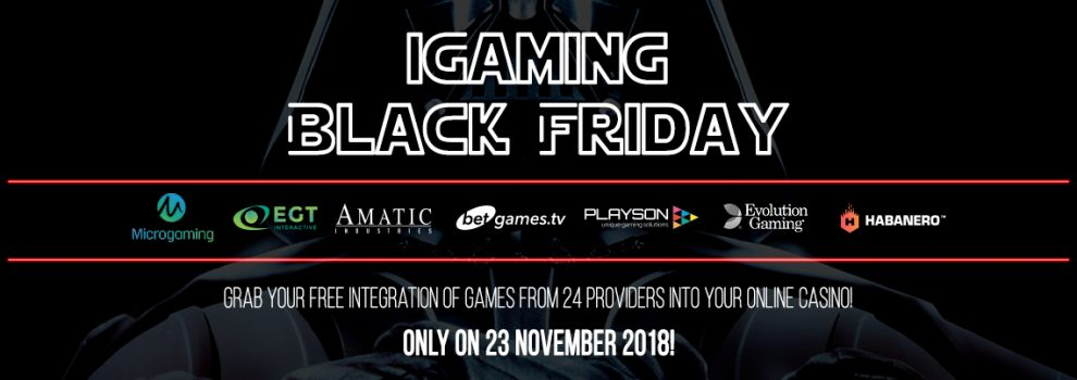 iGaming Black Friday: Online Games Integration Promo from Slotegrator